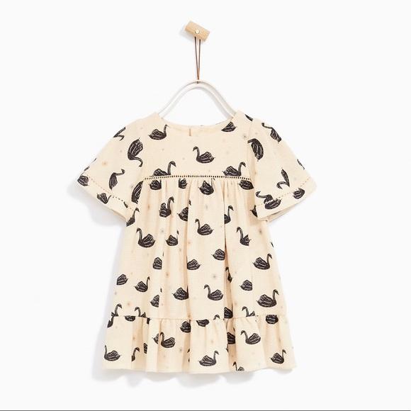 cd7e711bbf Zara Dresses | Baby Girl Swan Boho Dress | Poshmark